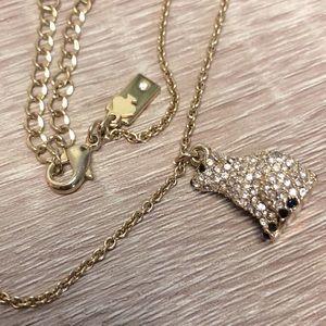 Kate spade ♠️ diamond polar bear necklace